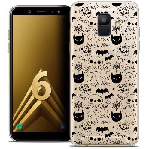 "Coque Crystal Gel Samsung Galaxy A6 2018 (5.45"") Extra Fine Halloween - Spooky"