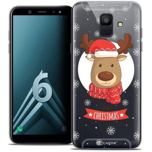 """Coque Crystal Gel Samsung Galaxy A6 2018 (5.45"""") Extra Fine Noël 2017 - Cerf à Echarpe"""