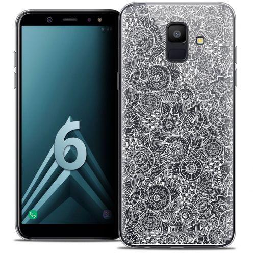 """Coque Crystal Gel Samsung Galaxy A6 2018 (5.45"""") Extra Fine Dentelle Florale - Blanc"""