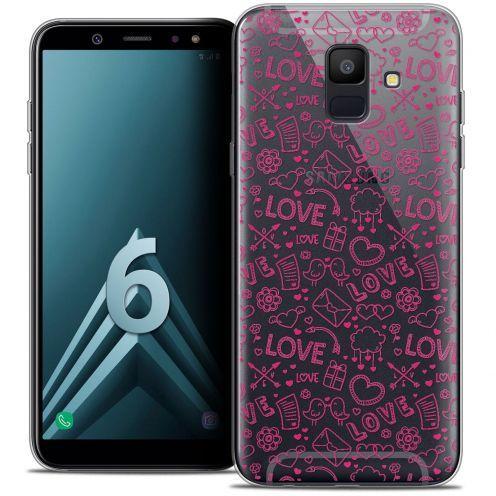 """Coque Crystal Gel Samsung Galaxy A6 2018 (5.45"""") Extra Fine Love - Doodle"""
