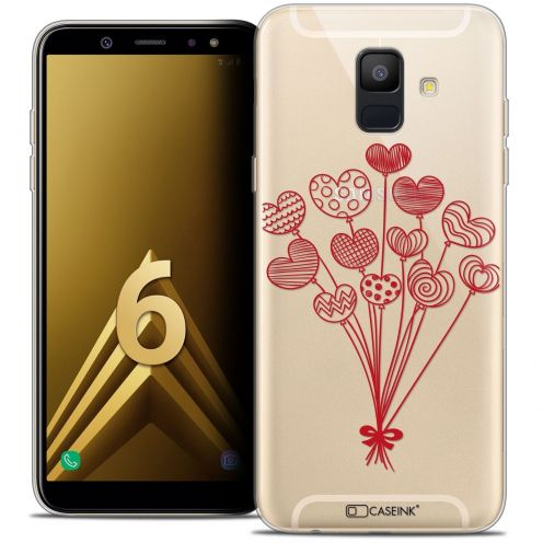 "Coque Crystal Gel Samsung Galaxy A6 2018 (5.45"") Extra Fine Love - Ballons d'amour"