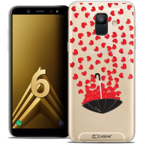 "Coque Crystal Gel Samsung Galaxy A6 2018 (5.45"") Extra Fine Love - Parapluie d'Amour"