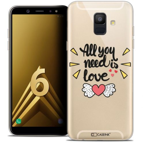 """Coque Crystal Gel Samsung Galaxy A6 2018 (5.45"""") Extra Fine Love - All U Need Is"""