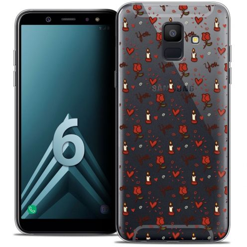 "Coque Crystal Gel Samsung Galaxy A6 2018 (5.45"") Extra Fine Love - Bougies et Roses"