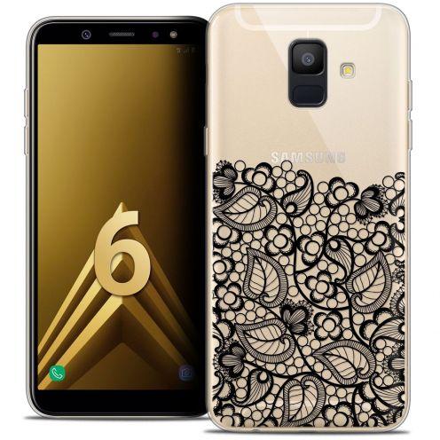 "Coque Crystal Gel Samsung Galaxy A6 2018 (5.45"") Extra Fine Spring - Bas dentelle Noir"
