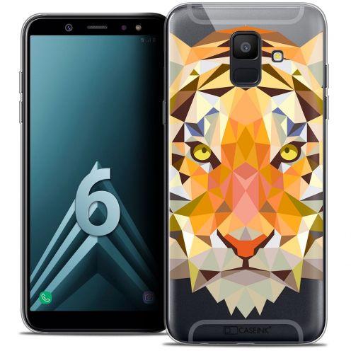 """Coque Crystal Gel Samsung Galaxy A6 2018 (5.45"""") Extra Fine Polygon Animals - Tigre"""
