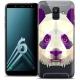 "Coque Crystal Gel Samsung Galaxy A6 2018 (5.45"") Extra Fine Polygon Animals - Panda"