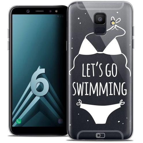 """Coque Crystal Gel Samsung Galaxy A6 2018 (5.45"""") Extra Fine Summer - Let's Go Swim"""