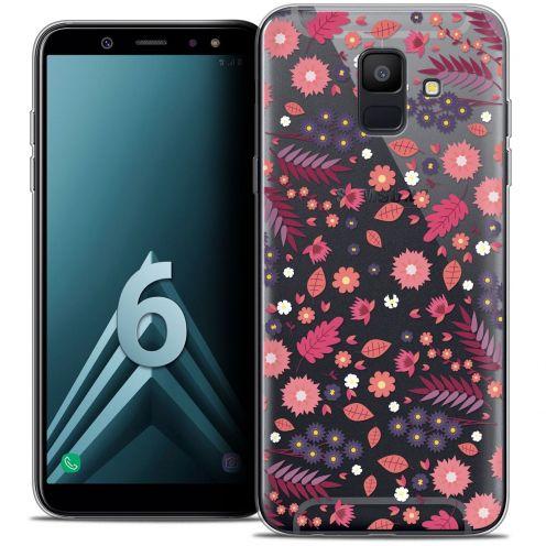 "Coque Crystal Gel Samsung Galaxy A6 2018 (5.45"") Extra Fine Spring - Printemps"