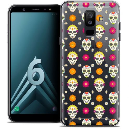 "Coque Crystal Gel Samsung Galaxy A6 PLUS 2018 (6"") Extra Fine Halloween - Skull Halloween"