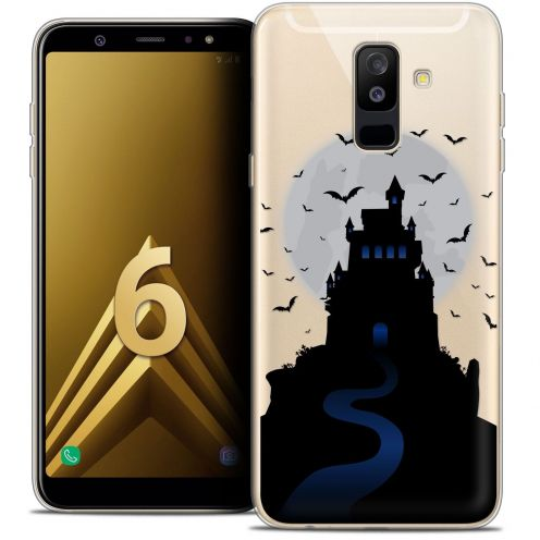 "Coque Crystal Gel Samsung Galaxy A6 PLUS 2018 (6"") Extra Fine Halloween - Castle Nightmare"