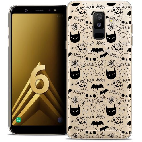 "Coque Crystal Gel Samsung Galaxy A6 PLUS 2018 (6"") Extra Fine Halloween - Spooky"