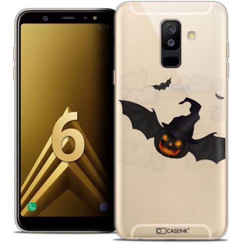 "Coque Crystal Gel Samsung Galaxy A6 PLUS 2018 (6"") Extra Fine Halloween - Chauve Citrouille"
