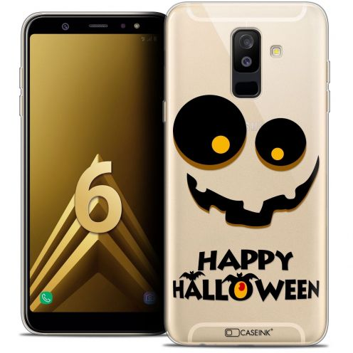 "Coque Crystal Gel Samsung Galaxy A6 PLUS 2018 (6"") Extra Fine Halloween - Happy"
