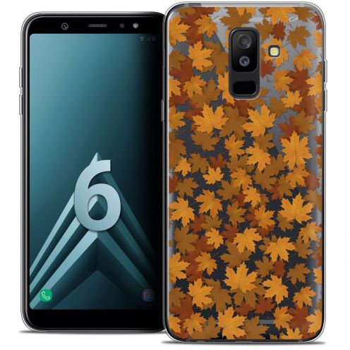 "Coque Crystal Gel Samsung Galaxy A6 PLUS 2018 (6"") Extra Fine Autumn 16 - Feuilles"