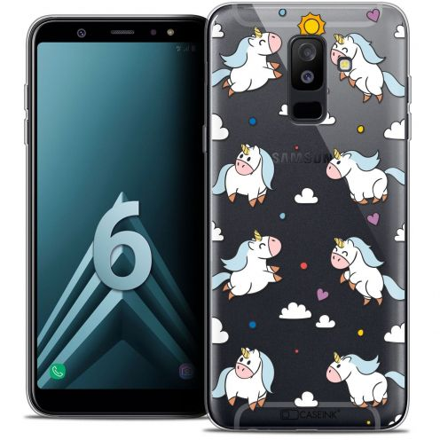 "Coque Crystal Gel Samsung Galaxy A6 PLUS 2018 (6"") Extra Fine Fantasia - Licorne In the Sky"