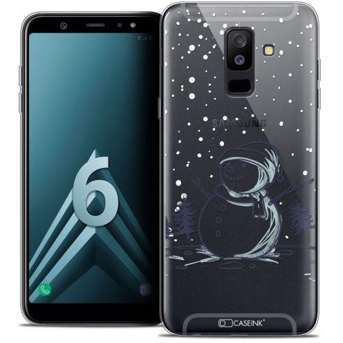 "Coque Crystal Gel Samsung Galaxy A6 PLUS 2018 (6"") Extra Fine Noël 2017 - Bonhomme de Neige"