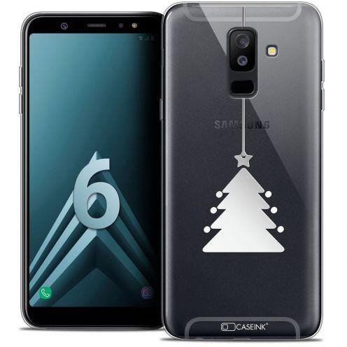 "Coque Crystal Gel Samsung Galaxy A6 PLUS 2018 (6"") Extra Fine Noël 2017 - Petit Arbre"