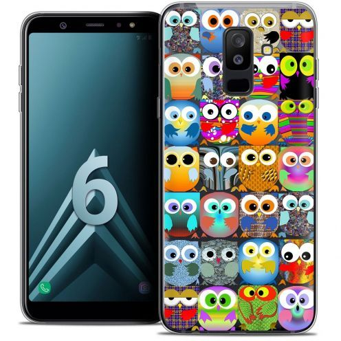 "Coque Crystal Gel Samsung Galaxy A6 PLUS 2018 (6"") Extra Fine Claude - Hibous"