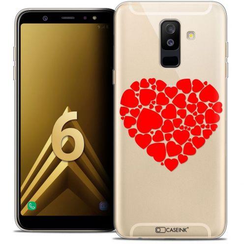 """Coque Crystal Gel Samsung Galaxy A6 PLUS 2018 (6"""") Extra Fine Love - Coeur des Coeurs"""