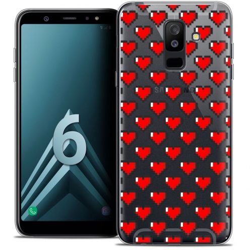 "Coque Crystal Gel Samsung Galaxy A6 PLUS 2018 (6"") Extra Fine Love - Pixel Art"