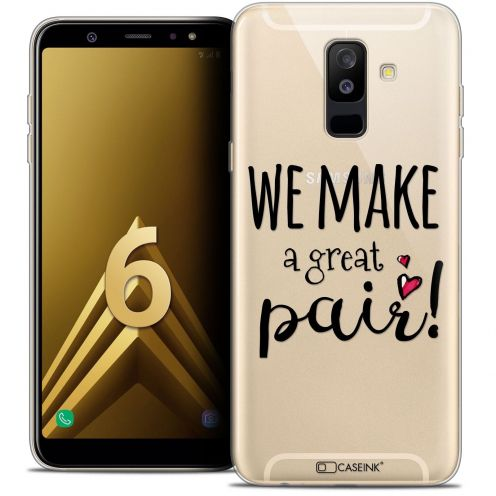 "Coque Crystal Gel Samsung Galaxy A6 PLUS 2018 (6"") Extra Fine Love - We Make Great Pair"