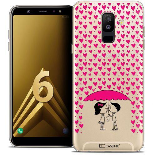 "Coque Crystal Gel Samsung Galaxy A6 PLUS 2018 (6"") Extra Fine Love - Pluie d'Amour"