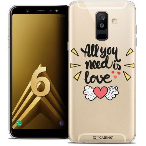 """Coque Crystal Gel Samsung Galaxy A6 PLUS 2018 (6"""") Extra Fine Love - All U Need Is"""