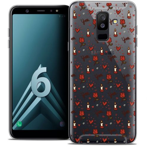 """Coque Crystal Gel Samsung Galaxy A6 PLUS 2018 (6"""") Extra Fine Love - Bougies et Roses"""