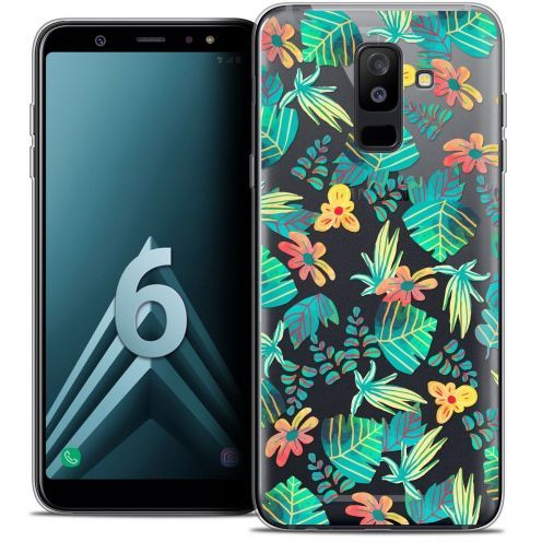 "Coque Crystal Gel Samsung Galaxy A6 PLUS 2018 (6"") Extra Fine Spring - Tropical"