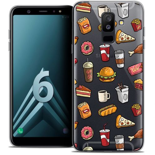 "Coque Crystal Gel Samsung Galaxy A6 PLUS 2018 (6"") Extra Fine Foodie - Fast Food"