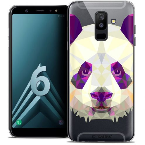 "Coque Crystal Gel Samsung Galaxy A6 PLUS 2018 (6"") Extra Fine Polygon Animals - Panda"