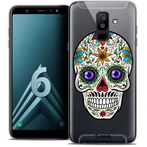 "Coque Crystal Gel Samsung Galaxy A6 PLUS 2018 (6"") Extra Fine Skull - Maria's Flower"