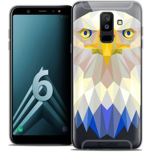 "Coque Crystal Gel Samsung Galaxy A6 PLUS 2018 (6"") Extra Fine Polygon Animals - Aigle"