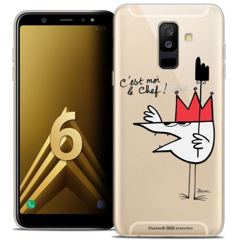 "Coque Gel Samsung Galaxy A6 PLUS 2018 (6"") Extra Fine Les Shadoks® - Le Chef"