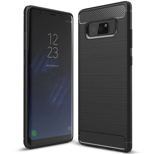 "Coque Samsung Galaxy Note 8 (6.3"") Hybrid Series Carbon Brush Noir"