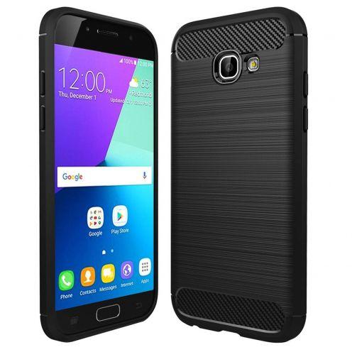 """Coque Samsung Galaxy A5 2017 A520 (5.2"""") Hybrid Series Carbon Brush Noir"""