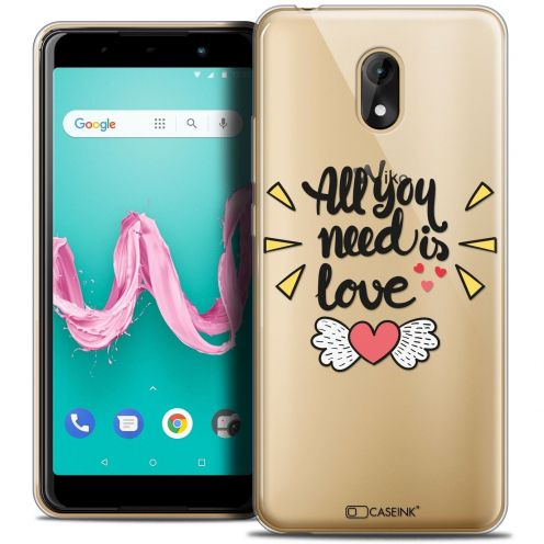"Coque Crystal Gel Wiko Lenny 5 (5.7"") Extra Fine Love - All U Need Is"