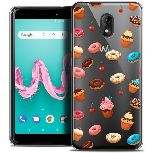 "Coque Crystal Gel Wiko Lenny 5 (5.7"") Extra Fine Foodie - Donuts"