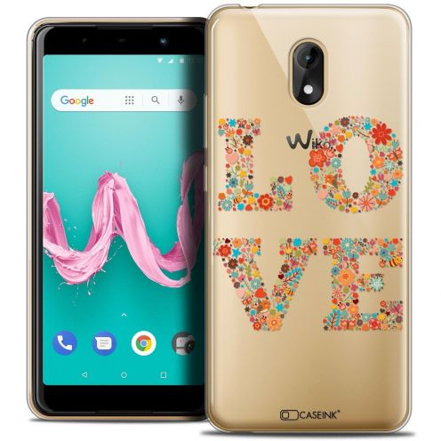 "Coque Crystal Gel Wiko Lenny 5 (5.7"") Extra Fine Summer - Love Flowers"
