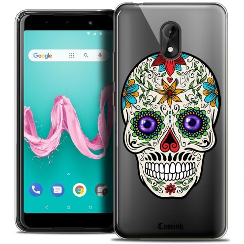 "Coque Crystal Gel Wiko Lenny 5 (5.7"") Extra Fine Skull - Maria's Flower"