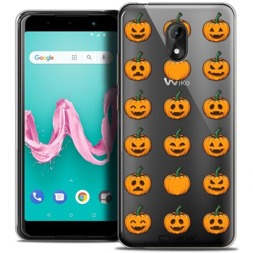 "Coque Crystal Gel Wiko Lenny 5 (5.7"") Extra Fine Halloween - Smiley Citrouille"