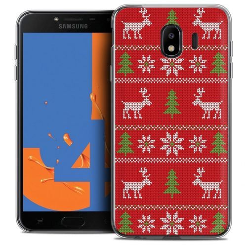 """Coque Crystal Gel Samsung Galaxy J4 2018 J400 (5.5"""") Extra Fine Noël 2017 - Couture Rouge"""