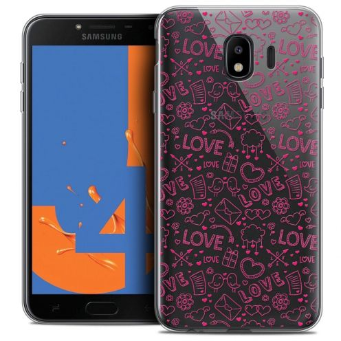 "Coque Crystal Gel Samsung Galaxy J4 2018 J400 (5.5"") Extra Fine Love - Doodle"