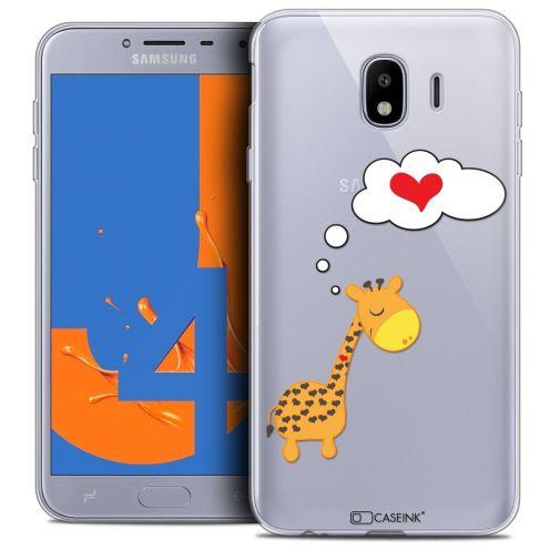 "Coque Crystal Gel Samsung Galaxy J4 2018 J400 (5.5"") Extra Fine Love - Girafe Amoureuse"