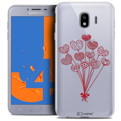 "Coque Crystal Gel Samsung Galaxy J4 2018 J400 (5.5"") Extra Fine Love - Ballons d'amour"