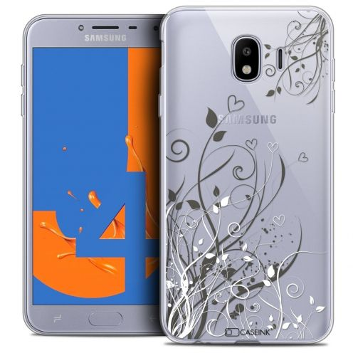 "Coque Crystal Gel Samsung Galaxy J4 2018 J400 (5.5"") Extra Fine Love - Hearts Flowers"