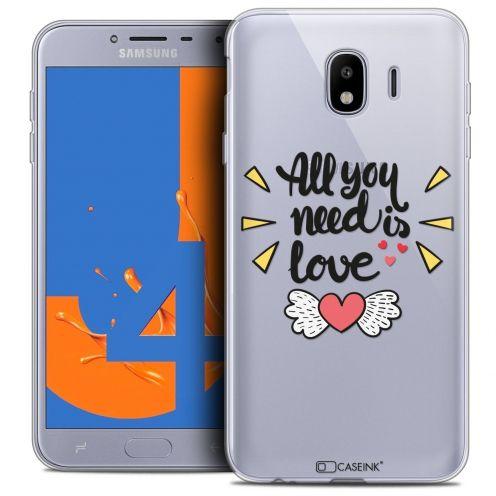 "Coque Crystal Gel Samsung Galaxy J4 2018 J400 (5.5"") Extra Fine Love - All U Need Is"