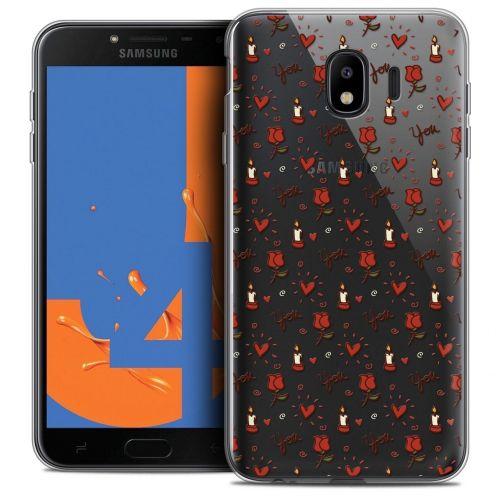 "Coque Crystal Gel Samsung Galaxy J4 2018 J400 (5.5"") Extra Fine Love - Bougies et Roses"