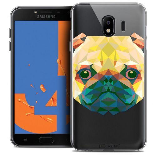 "Coque Crystal Gel Samsung Galaxy J4 2018 J400 (5.5"") Extra Fine Polygon Animals - Chien"